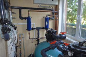 Водоочистка и отпление бассейна